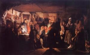 Vasily-Maximov-xx-Sorcerer-Visiting-Peasants'-Wedding-1875-xx-The-State-Tretyakov-Gallery