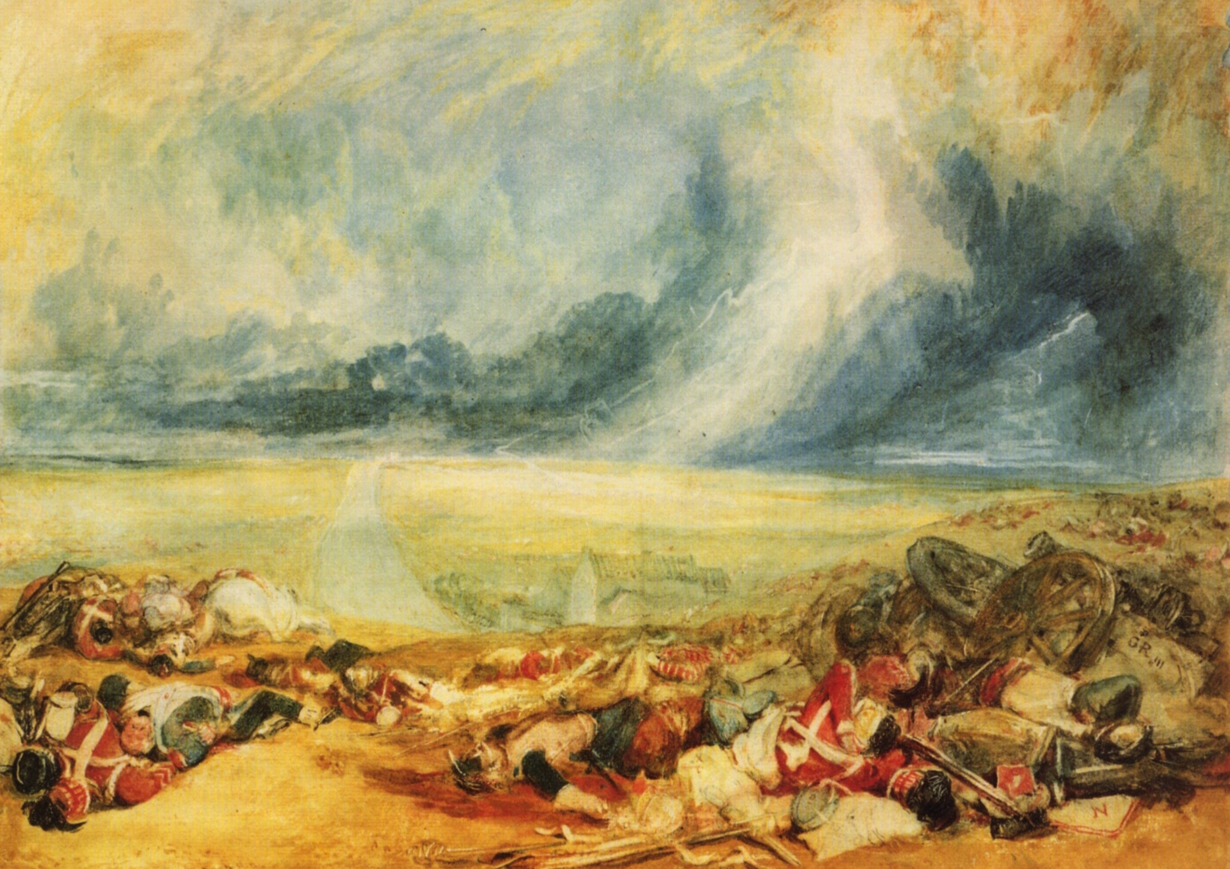 JosephTurner- Le champ de Waterloo 1818